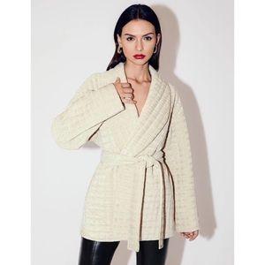 NWT Shein Shawl Collar Belted Wrap Coat Jacket
